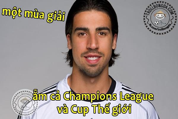Khedira là thánh son mới của bóng đá