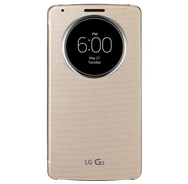 Không đầy một tuần lễ trước khi ra mắt LG G3, công ty Hàn Quốc đã ra mắt loại vỏ gập QuickCircle độc đáo dành cho dòng đầu bảng mới.