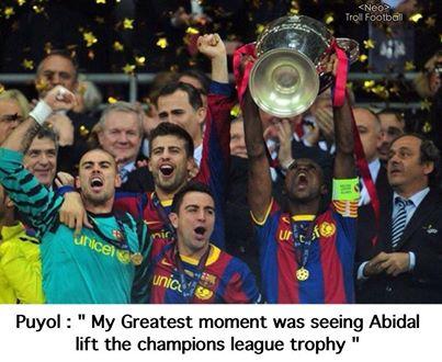 Puyol: Khoảnh khắc đẹp nhất sự nghiệp của tôi là khi Abidal nâng cao cúp vô địch