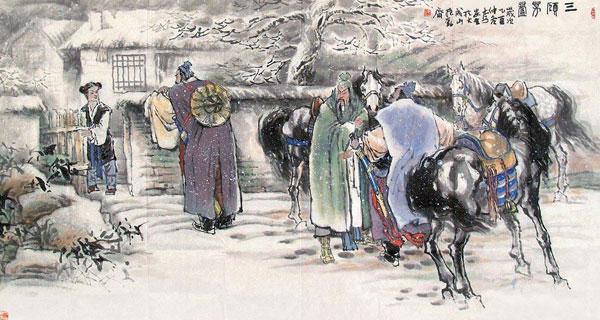 Tam cố thảo lư - 3 lần tới lều cỏ thỉnh Gia Cát Lượng xuống núi, điển tích tô đậm hình tượng trọng hiền tài của Lưu Bị.