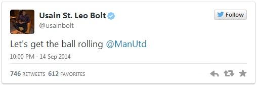 Tia chớp luôn dõi theo Man United