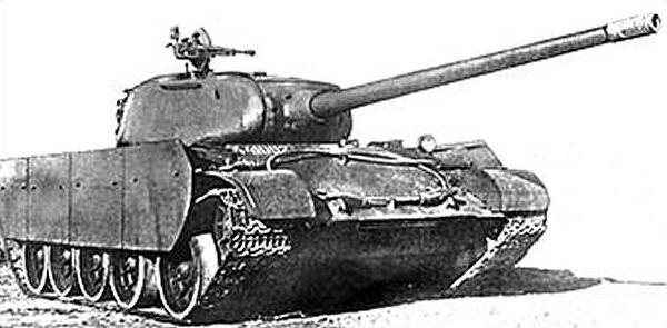 Phiên bản sử dụng pháo 100 mm có thể gắn thêm giáp hông xe