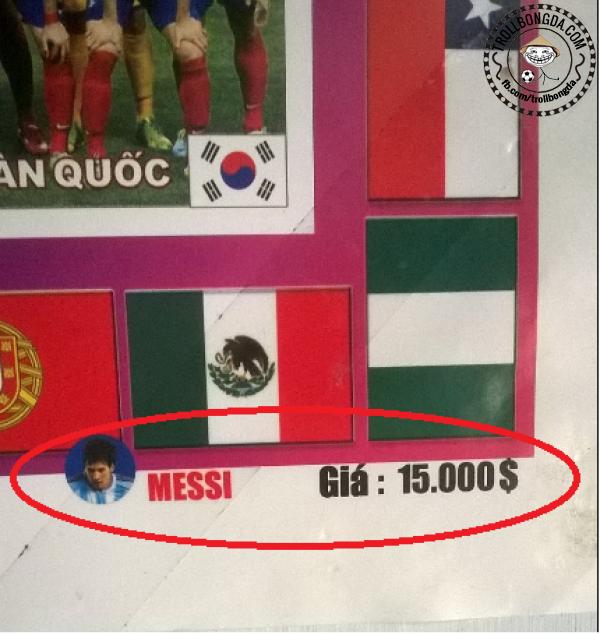 Ở Việt Nam Messi có giá rất bình dân