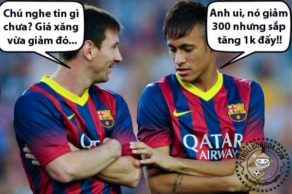 Không biết Messi đã đổ xăng chưa??