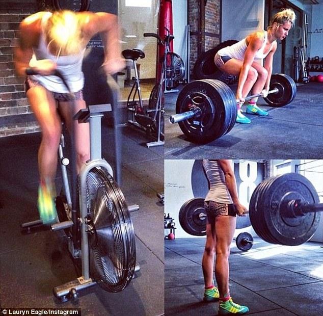 Lauryn Eagle lao đầu vào tập gym