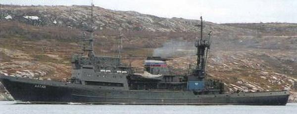 Đi cùng Nguyên soái Shaposhnikov trong chuyến hành trình lần này là tàu cứu hộ Alatau thuộc dự án 1452 (NATO định danh Ingul Class)