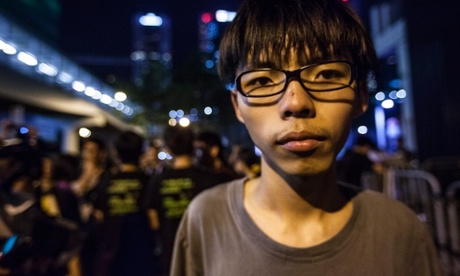 Lãnh đạo sinh viên Joshua Wong Ảnh: EPA