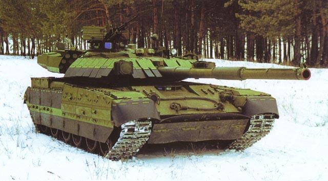 Giáp phản ứng nổ Nozh lắp trên xe tăng T-84 Oplot