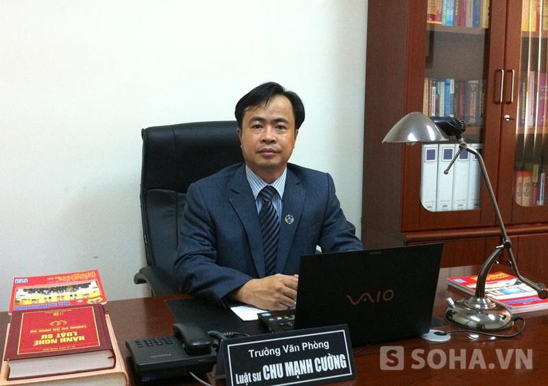 Luật sư Chu Mạnh Cường