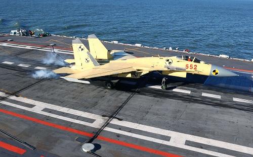 Tiêm kích J-15 trên tàu sân bay Liêu Ninh