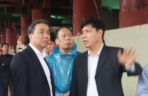 Thứ trưởng Bộ GTVT Nguyễn Ngọc Đông chỉ đạo xử lý vụ tai nạn ngay tại hiện trường