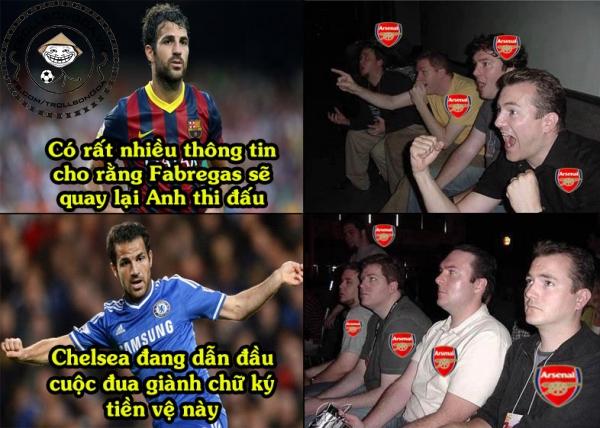 Fan Arsenal mừng hụt