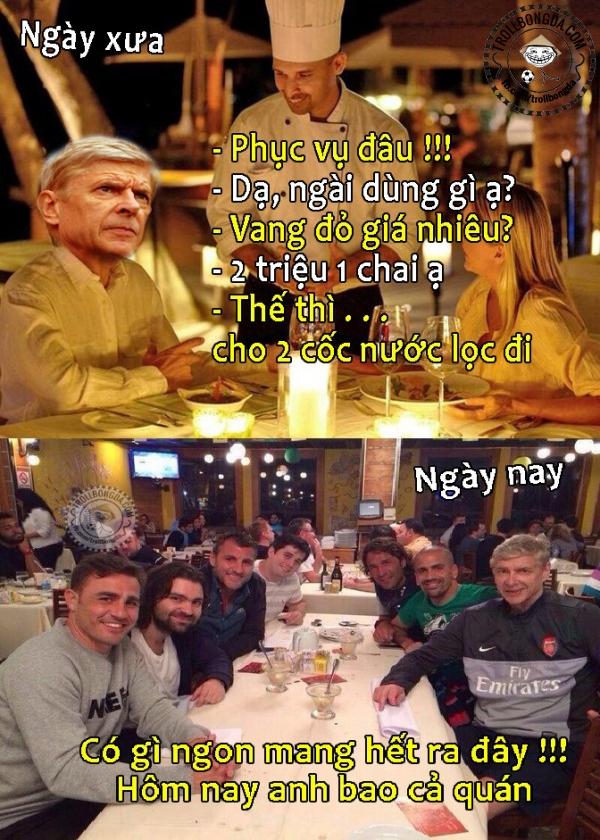 Wenger nay giàu rồi