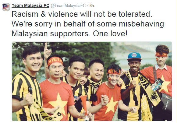 Một hình ảnh đi kèm lời tạ lỗi của nhóm NHM Malaysia