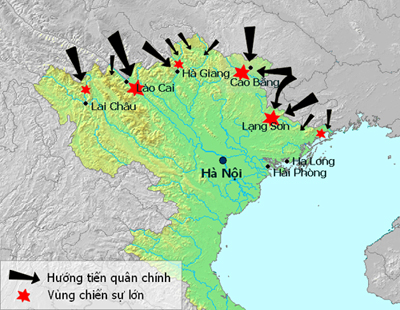 Các mũi tấn công Việt Nam của quân Trung Quốc tháng 2/1979