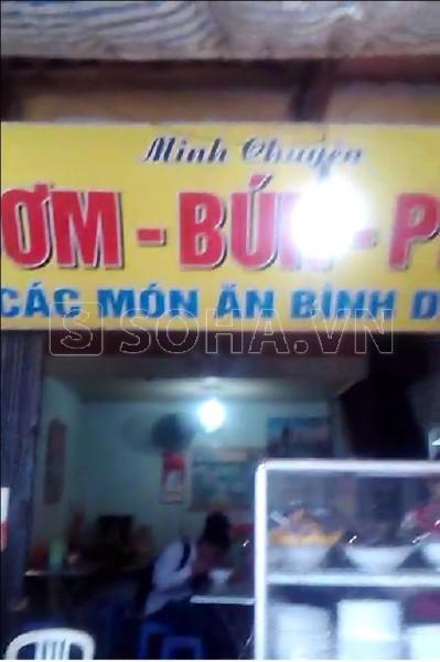 Máy chém Minh Chuyên nằm ở tkhu vực bến xe Giáp Bát