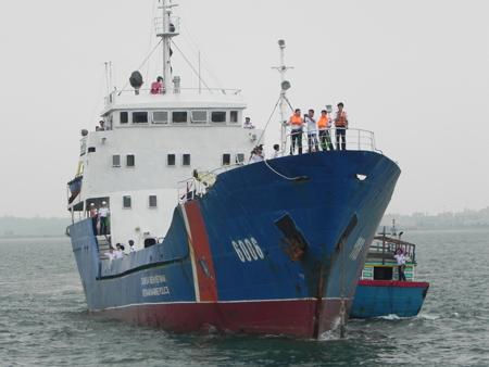 Tàu Cảnh sát biển 6006 hoán cái từ tàu vận tải lớp Trường Sa