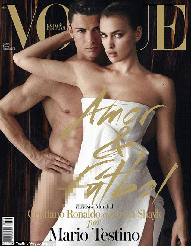 Ronaldo và Irina đều có thân hình chuẩn mực