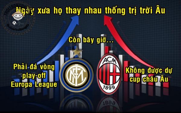 Milan và Inter sa sút quá!