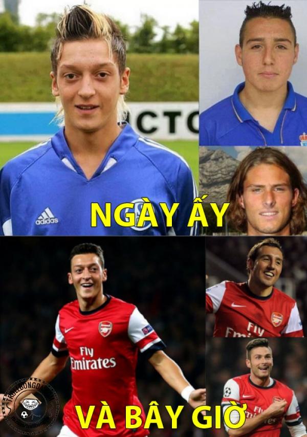Cứ sang Arsenal là có kiểu tóc xịn
