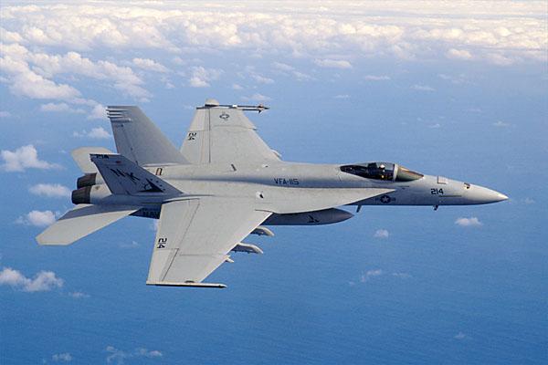 Tiêm kích trên hạm F/A-18 Super Hornet.