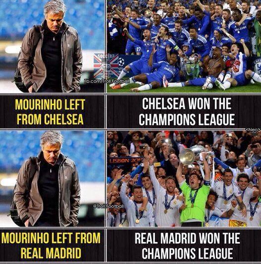 Cứ Mourinho đi khỏi thì CLB lại giành Champions League là cớ làm sao?