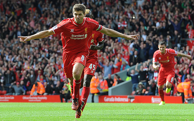 Gerrard đã chơi tổng cộng 679 trận (176 bàn) kể từ khi lên đội 1 Liverpool năm 1998
