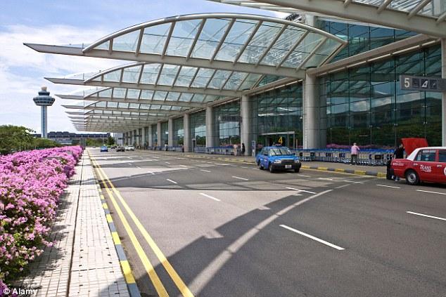 Sân bay Changi của Singapore, nơi chuyến bay QZ 8501 sẽ hạ cánh theo lịch trình