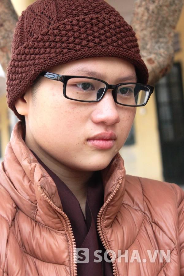 Em Nguyễn Thị Nụ xúc động tâm sự về hoàn cảnh gia đình.