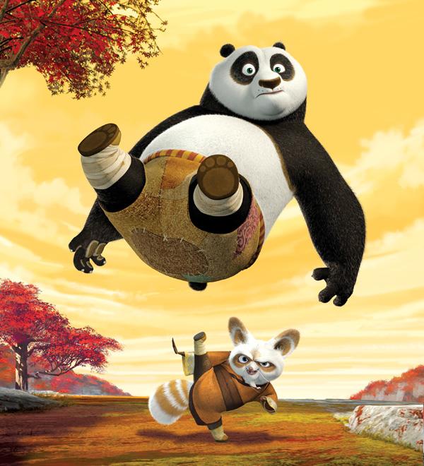 Kungfu Panda - Bộ phim hoạt hình ăn khách của Mỹ được dựa trên hình tượng gấu trúc cùng các nhân tố từ văn hóa Trung Quốc.
