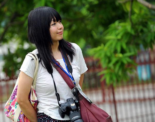 Hata Megumi khi đang tác nghiệp