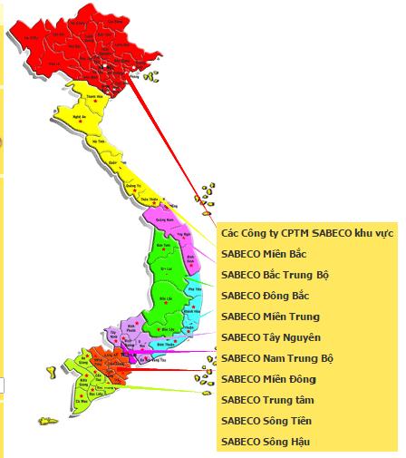 Hệ thống phân phối bia Sài Gòn rộng khắp cả nước.