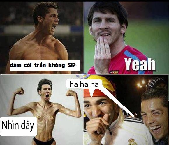 Cái tội cởi trần à Messi