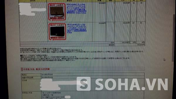 Chứng nhận đặt hàng chiếc túi channel từ website chị T. đặt mua.