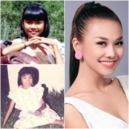 Tăng Thanh Hà thực sự đáng yêu khi còn nhỏ nhưng lớn lên cô nàng xinh đẹp hơn nhiều.