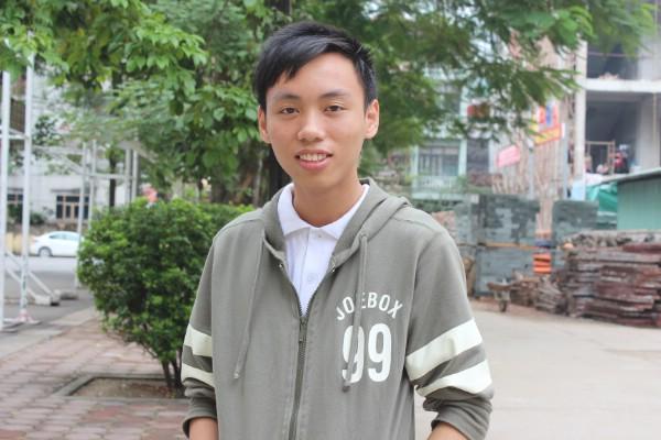Nguyễn Thế Hoàn đang quyết tâm thực hiện ước mơ du học Mỹ và được nghiên cứu Toán học.