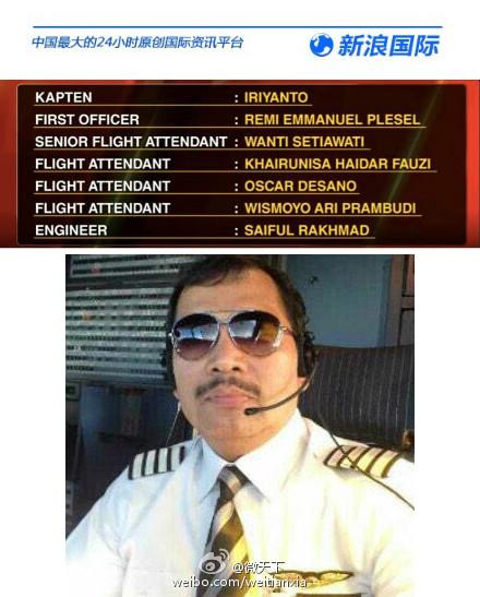 Thông tin về phi hành đoàn và ảnh cơ trưởng chuyến bay