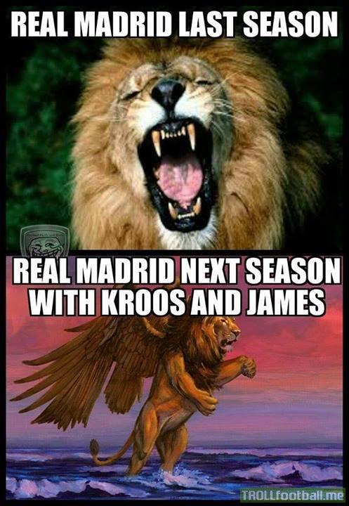 Real Madrid như sư tử thêm cánh