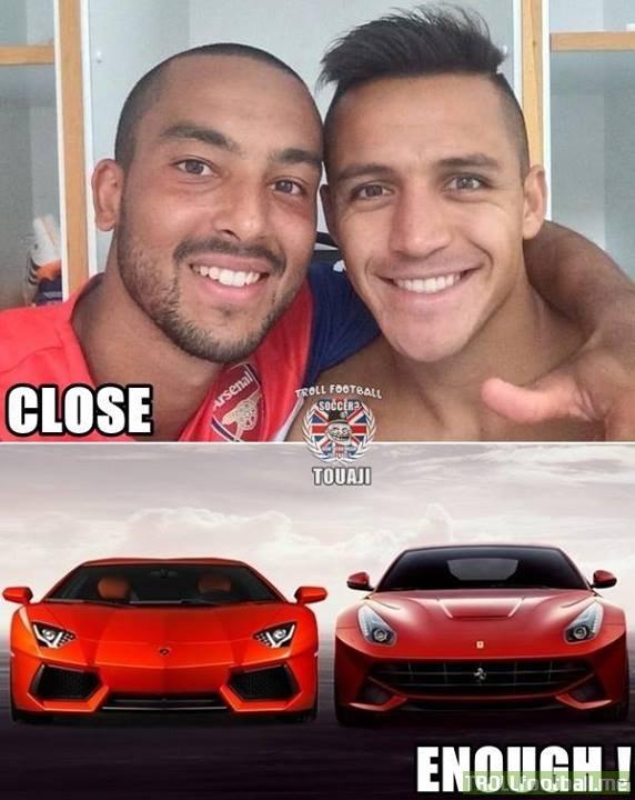 2 chiếc siêu xe của Arsenal