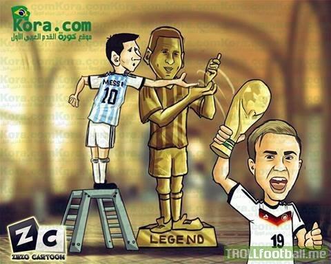 Cúp à, mơ đi Messi!