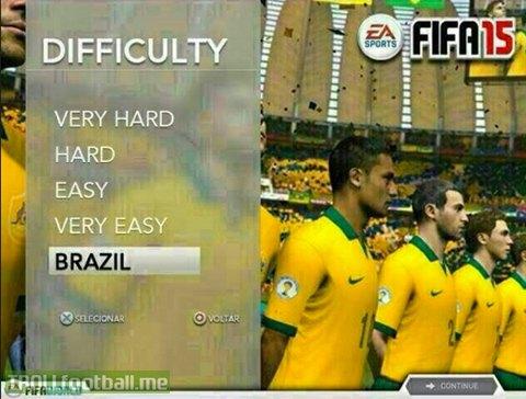 Brazil sẽ là cấp độ dễ nhất game bóng đá