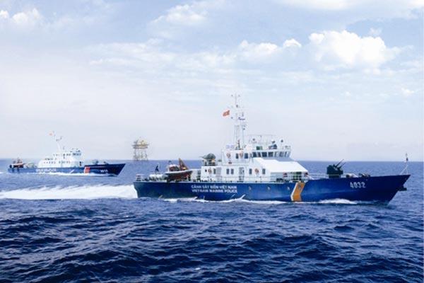 Tàu tuần tra TT-400 của Cảnh sát biển Việt Nam do công nghiệp đóng tàu trong nước sản xuất.