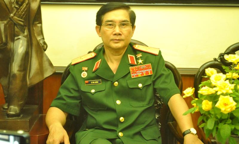 Thiếu tướng Lê Mã Lương (Ảnh: Tuấn Nam)
