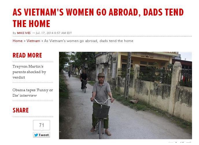 Bài báo đã thu hút rất nhiều bạn đọc quốc tế.