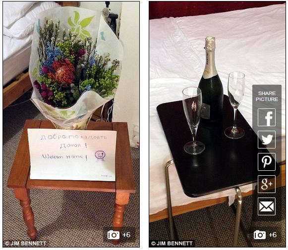 Bữa tiệc đầy lãng mạn để đón người yêu từ nước ngoài trở về