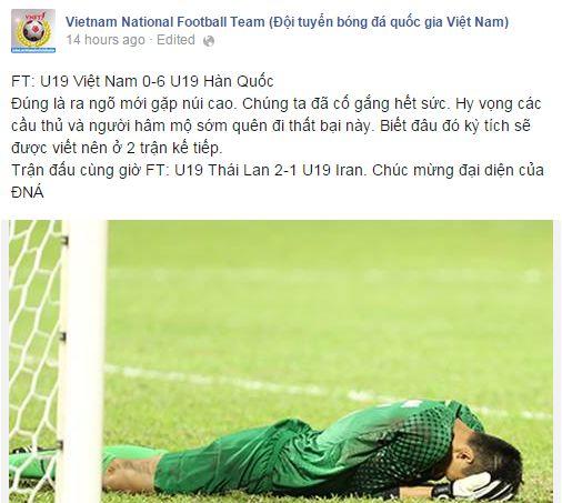 Ra ngõ gặp núi cao - trích dẫn khá đúng với U19 Việt Nam