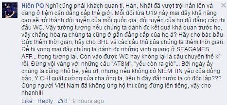 Thay vì chỉ trích, hãy ủng hộ U19 Việt Nam đến hết giải đấu