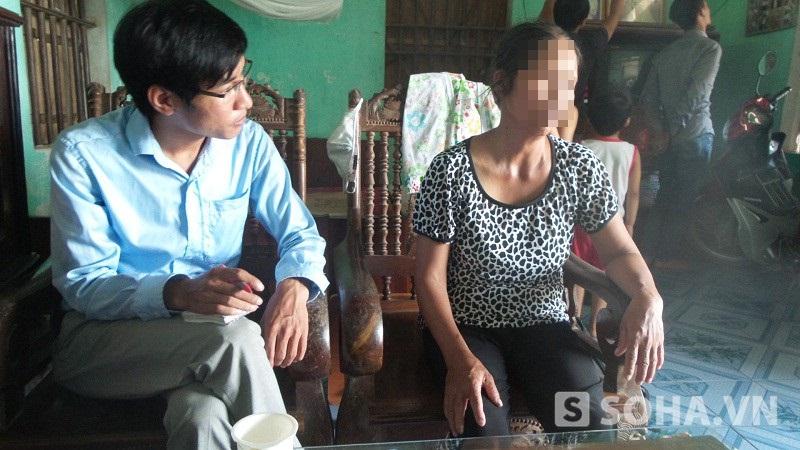 Bà Nguyễn Thị Đến buồn bã chia sẻ.