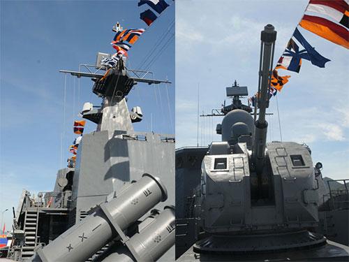Một số vũ khí trên tàu Gepard 3.9 của Việt Nam