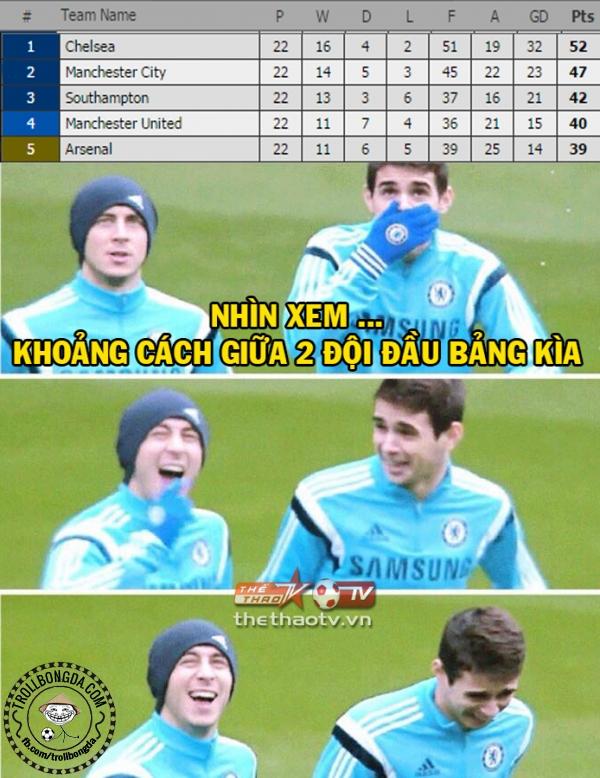 Chelsea rất là sung sướng